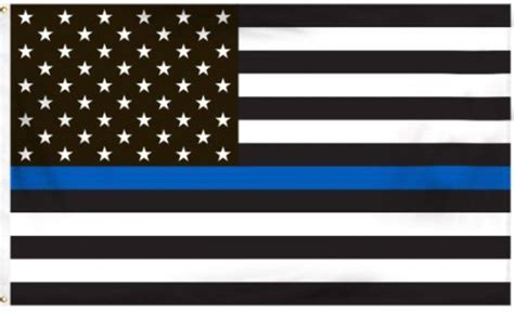 3 by 5 foot thin blue line flag honoring our men and women