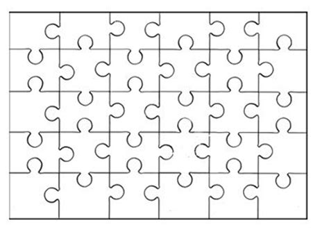 printable blank jigsaw puzzles best photos of jigsaw puzzle piece template printable