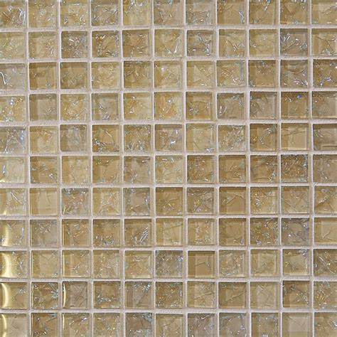 crackle glass tile 1 x 1 crackled glossy glass tile mosaic cream blend