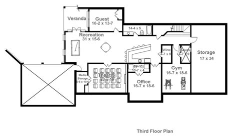 floor plan 3rd charleston 1836 4 bedrooms and 4 baths the house designers