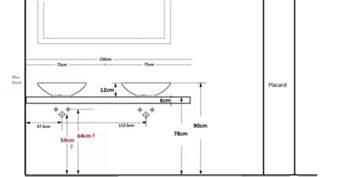 projet salle de bain hauteur plan vasque hauteur