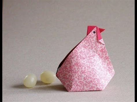 3d origami rooster tutorial origami hen video instructions gallina en origami