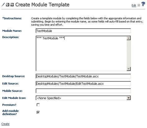 module template automated module creation tool for dotnetnuke codeproject