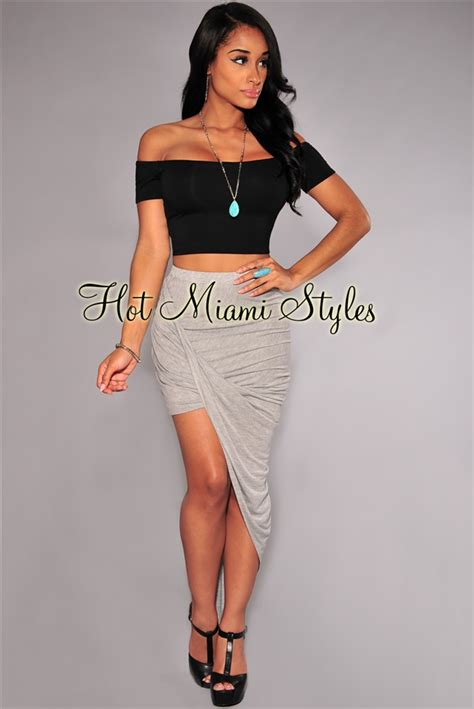 ruched draped skirt gray ruched asymmetrical draped skirt