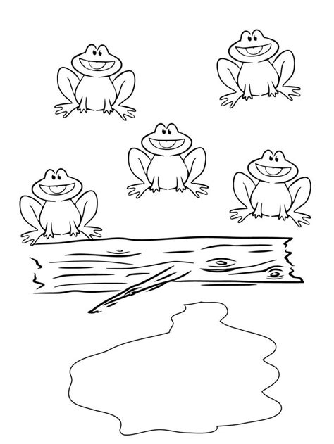 5 speckled frogs coloring page 62 best frogs images on pinterest frogs kids net and