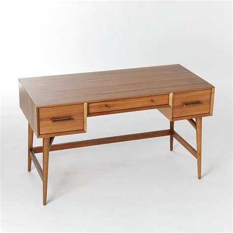 Mid Century Desk Acorn West Elm Mid Century Office Desk