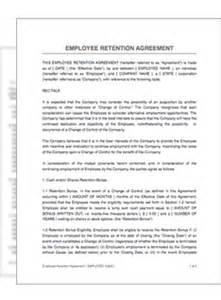 retention agreement template employee retention agreement restart pro employee retention plan template employee development