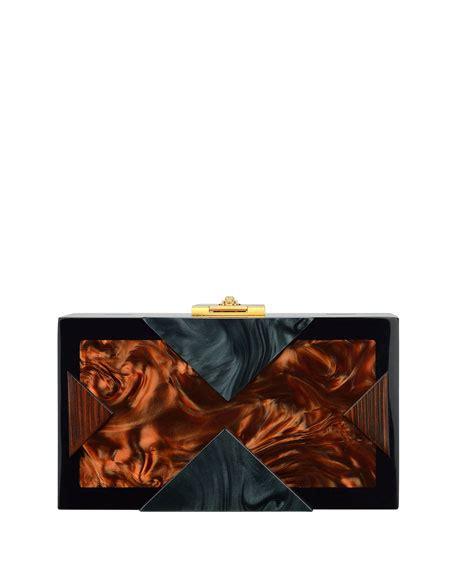 Alecia Brown Bag rafe lucite clutch bag brown black