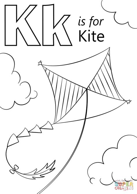 letter k coloring page k is for kite coloring page free printable coloring pages