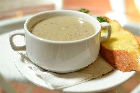 mushroom soup garlic mushroom soup recipe dishmaps