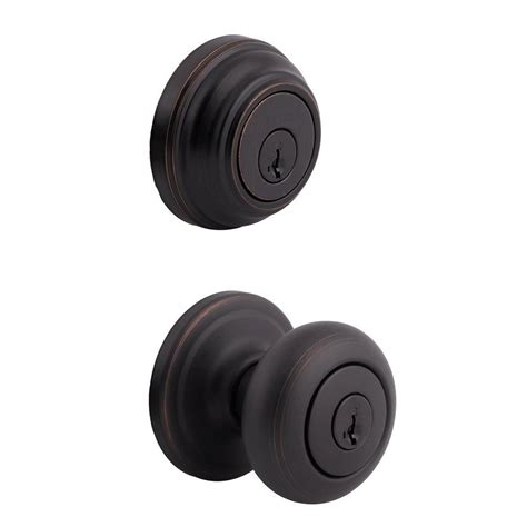 Exterior Door Knobs And Locks Kwikset Juno Venetian Bronze Exterior Entry Door Knob And Single Cylinder Deadbolt Combo Pack