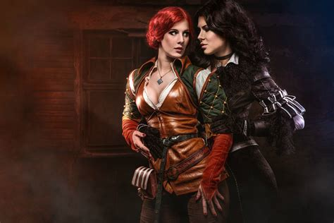 yennefer wallpaper 4k triss and yennefer wallpaper and background image