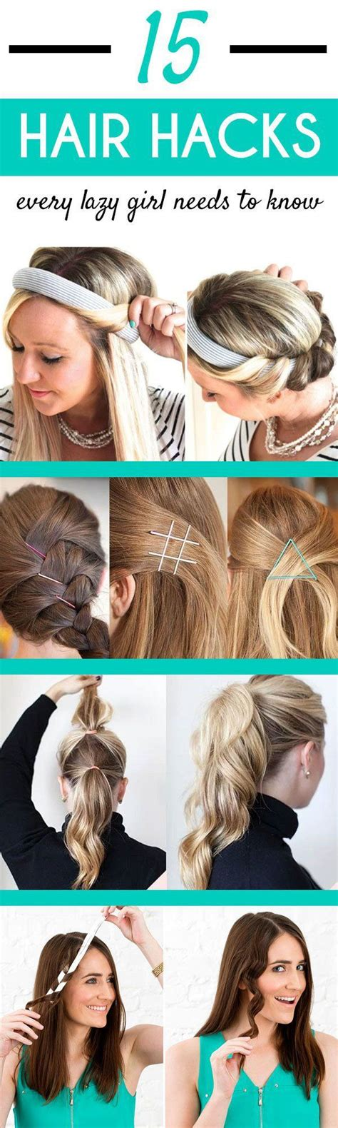 simple hairstyles hacks 15 super easy hair hacks for all us lazy girls h 229 r