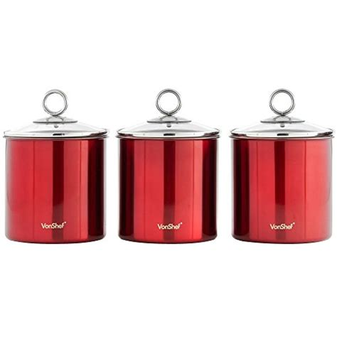stainless steel kitchen storage canisters set of three best stainless steel canister out of top 25