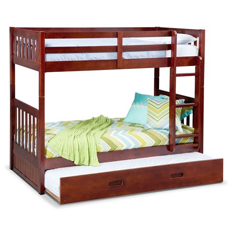 american furniture bunk beds ranger merlot twin twin bunk bed with trundle american