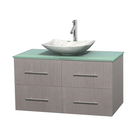Green Vanity Top by Wyndham Collection Centra 42 In Vanity In Gray Oak With
