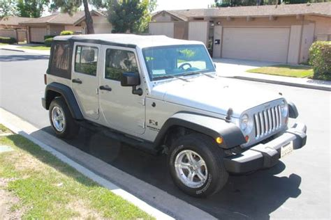 orange jeep wrangler unlimited for sale 2007 jeep wrangler unlimited x for sale in orange county