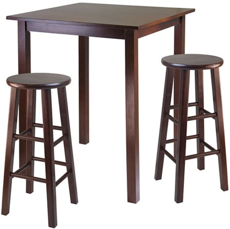 high table with stools parkland high table with two swivel stools by winsome