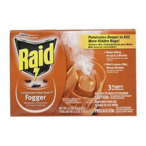 bed bug fogger raid 1 5 oz deep reach insect foggers 3 pack 81595