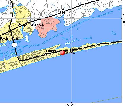 emerald island carolina map 28594 zip code emerald isle carolina profile