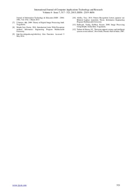 journal of pattern recognition letters pattern recognition of japanese alphabet katakana using
