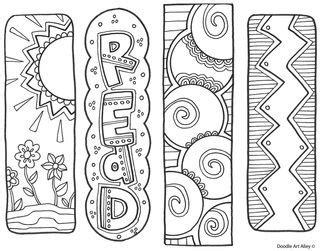 school doodle colouring bookmarks bookmarks free printable from classroom doodles