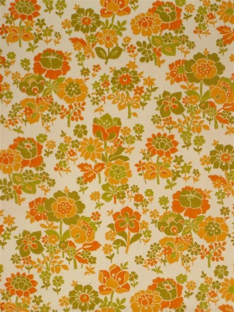 70s Floral by Vintage Retro 60s Floral Wallpaper Vintage Wallpapers