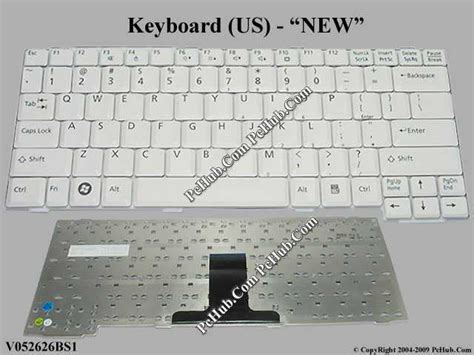 Keyboard Laptop Fujitsu L1010 fujitsu lifebook l1010 keyboard v052626bs1 6037b0035101 cp416814 01