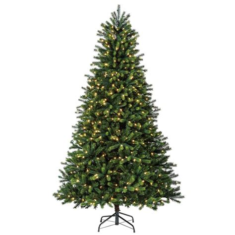 pre lit tree with twinkling lights shop living 7 5 ft 1781 count pre lit artificial