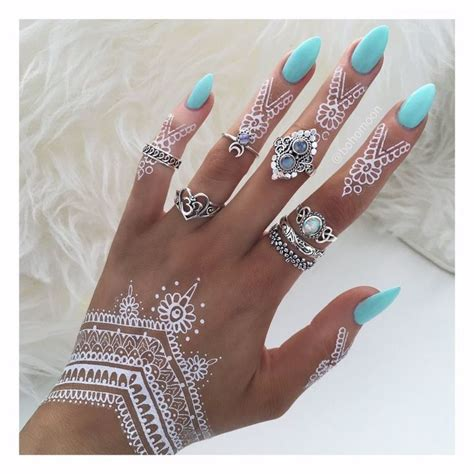 henna tattoo nail art best 25 sky blue nails ideas on baby blue
