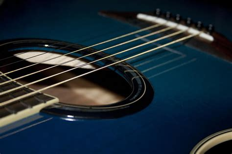 guitar wallpaper black and white hd blue and black acoustic guitar 14 hd wallpaper