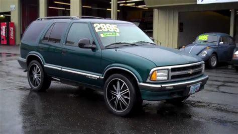 car manuals free online 1996 chevrolet blazer navigation system 1996 chevy blazer ls sold youtube