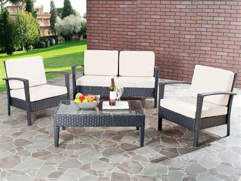 safavieh patio furniture fox6006a outdoor home furnishings patio sets 4