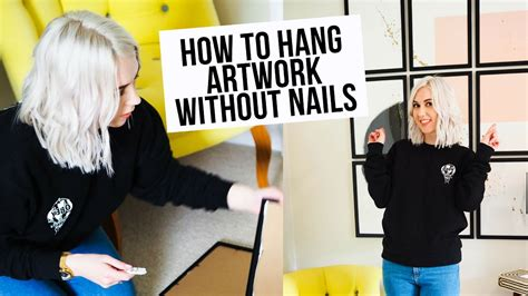 how to hang without nails how to hang pictures without nails youtube