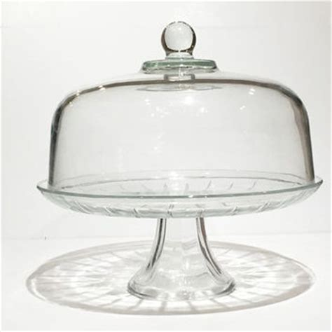 Glass Pedestal Cake Stand With Glass Dome Lid shop glass cake stand and dome on wanelo