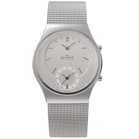 Dual Time Zip Code By Fendi by Skagen 733xlss Unisex Dual Time Zone Function Mesh Band