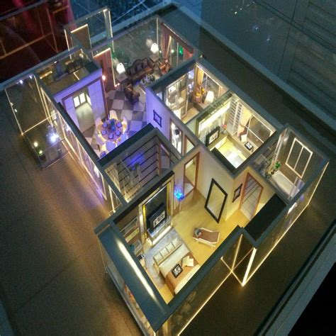 miniature residential house model architectural models architecture house model with miniature furniture 3d model