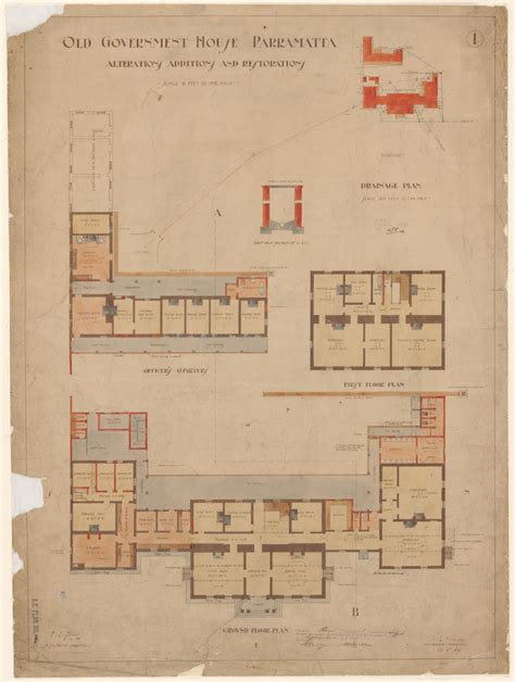 are house floor plans public record plans of public buildings state archives and records nsw