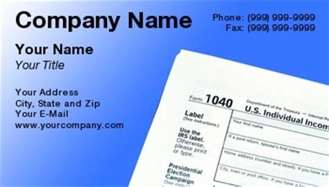 tax services business cards accounting income tax tax tax preparation tax preparer