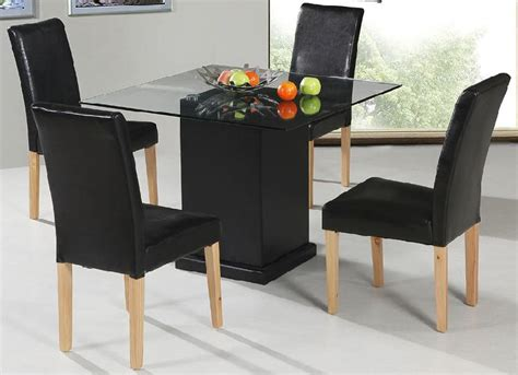Kitchen Table Sets Glass Top Kitchen Glamorous Square Kitchen Table And Chairs Black