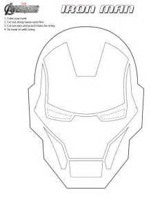 jinxy kids printable iron man mask to color