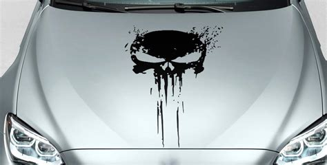 Sticker Motor Decal Nmax Skull 30 22 product punisher skull distressed blood side vinyl decal sticker for car track suv 33