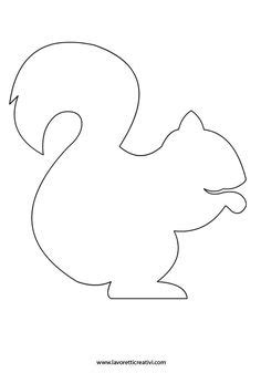 squirrel template squirrel pattern use the printable outline for crafts