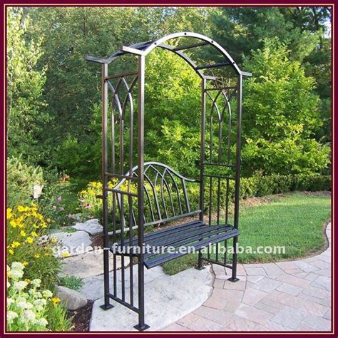 White Painted Foldable Iron Garden Furniture Arbor For Patio Furniture Arbor