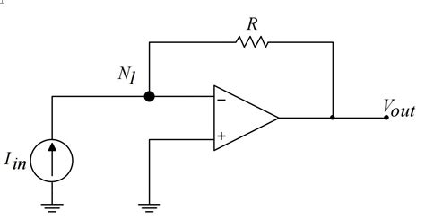 resistor voltage to current converter converting current to voltage the of transimpedance lifiers