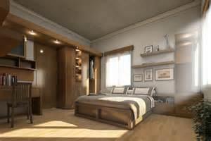 Contemporary rustic bedroom design via home designing