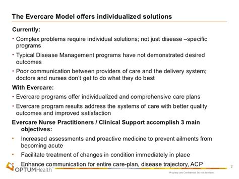 unitedhealthcare nursing home plan evercare clinical model