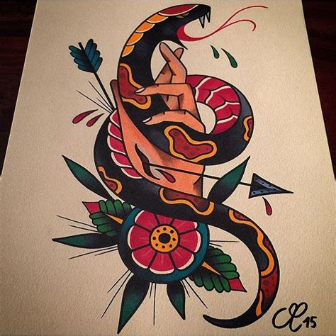 best 25 traditional snake tattoo ideas on pinterest