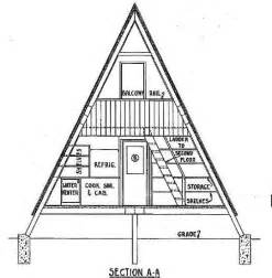 A Frame House Plans With Loft by A Frame House Plan With Deck