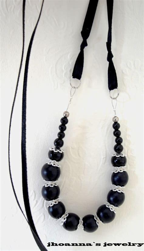 Beautiful Handmade Necklaces - beautiful beaded black handmade jewelry set with